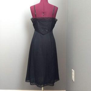 Vintage Intimates & Sleepwear - Vintage 60's Van Raalte Black Mesh & Lace Slip